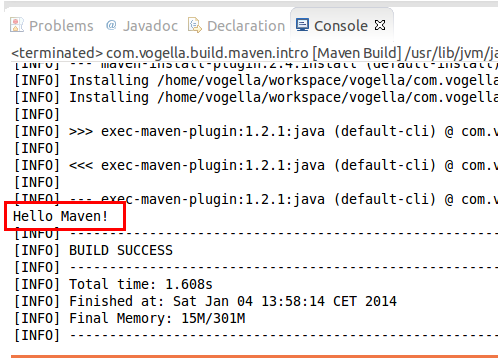 Maven for building Java applications - Tutorial